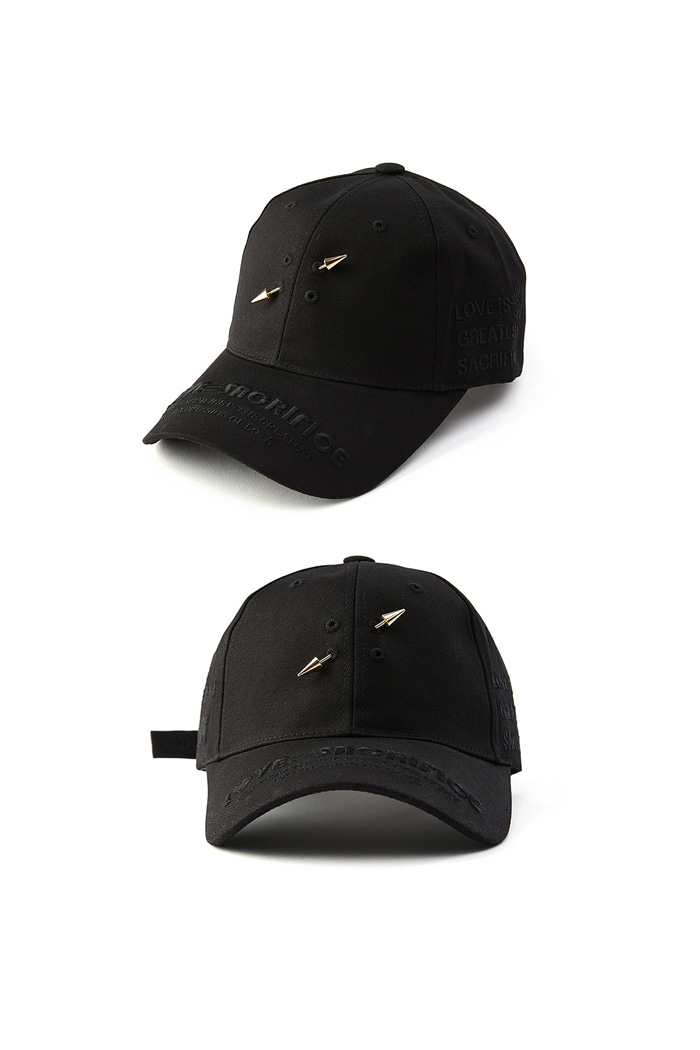 LOVE SACRIFICE ball cap_Black/Gold