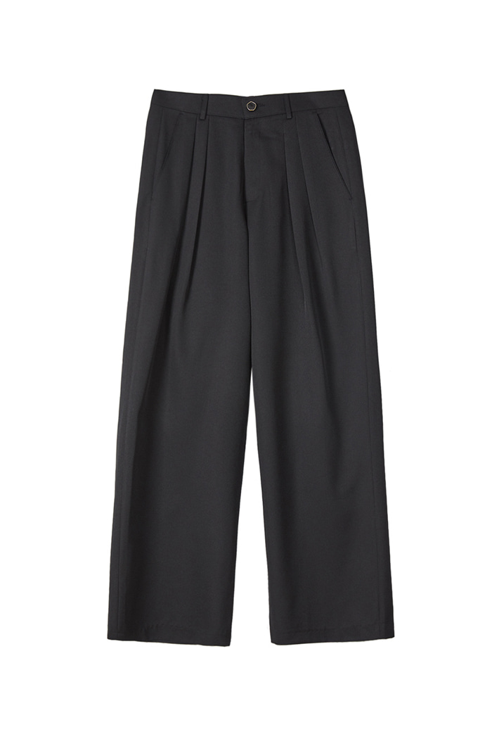 Long wide pants_Black