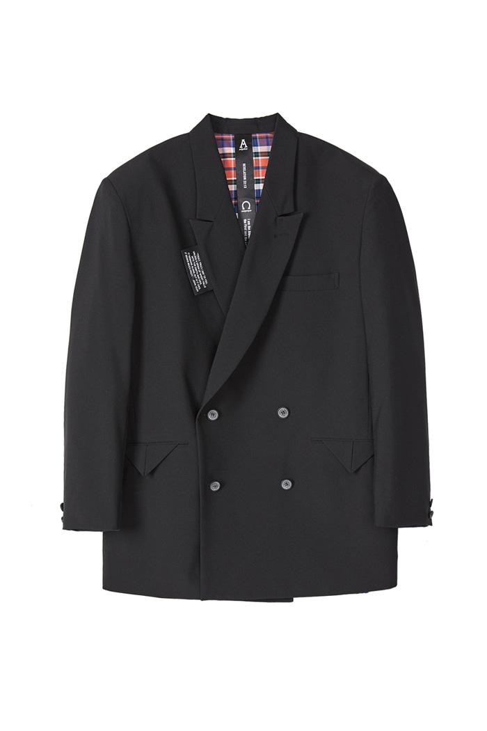 DOUBLE BREASTED BLAZER_Black