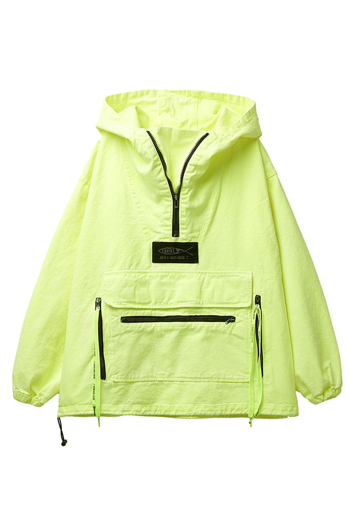 Garment Washing Anorak_lime