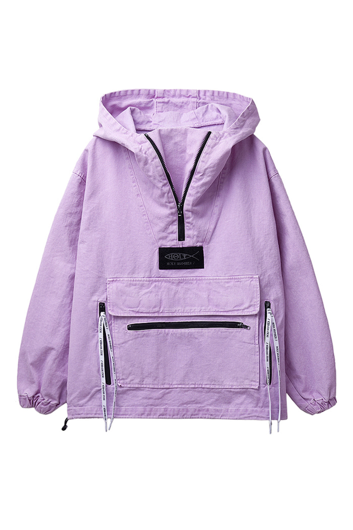 Garment Washing Anorak_Purple