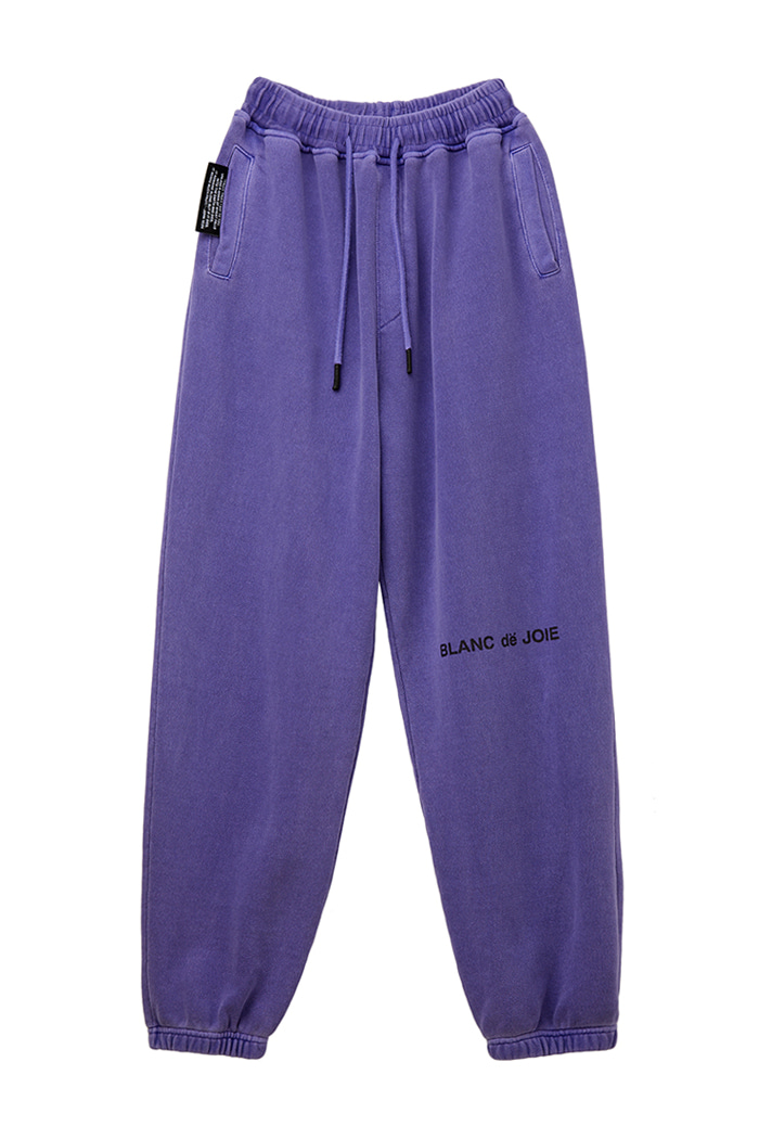 GARMENT-DYED TRAINING PANTS_violet