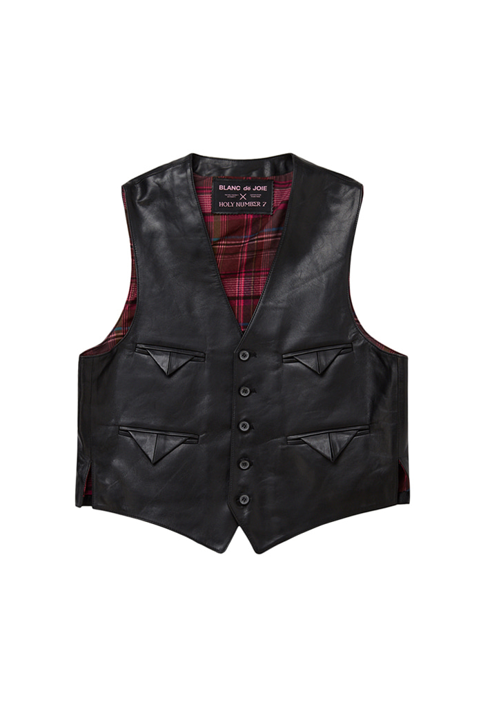 Lambskin Pocket point Vest