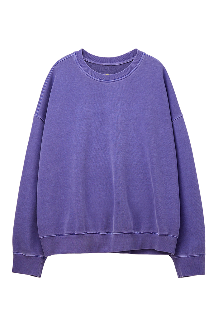 REVERSIBLE GARMENT-DYED SWEATSHIRT_violet