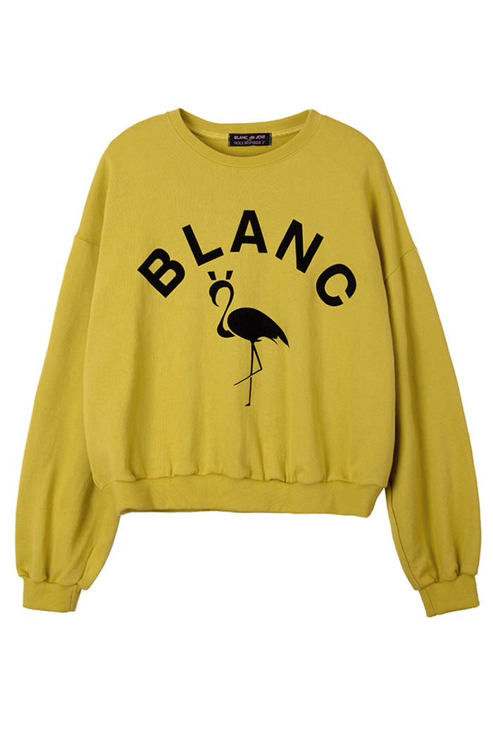 FLAMINGO SWEATSHIRT_mustard