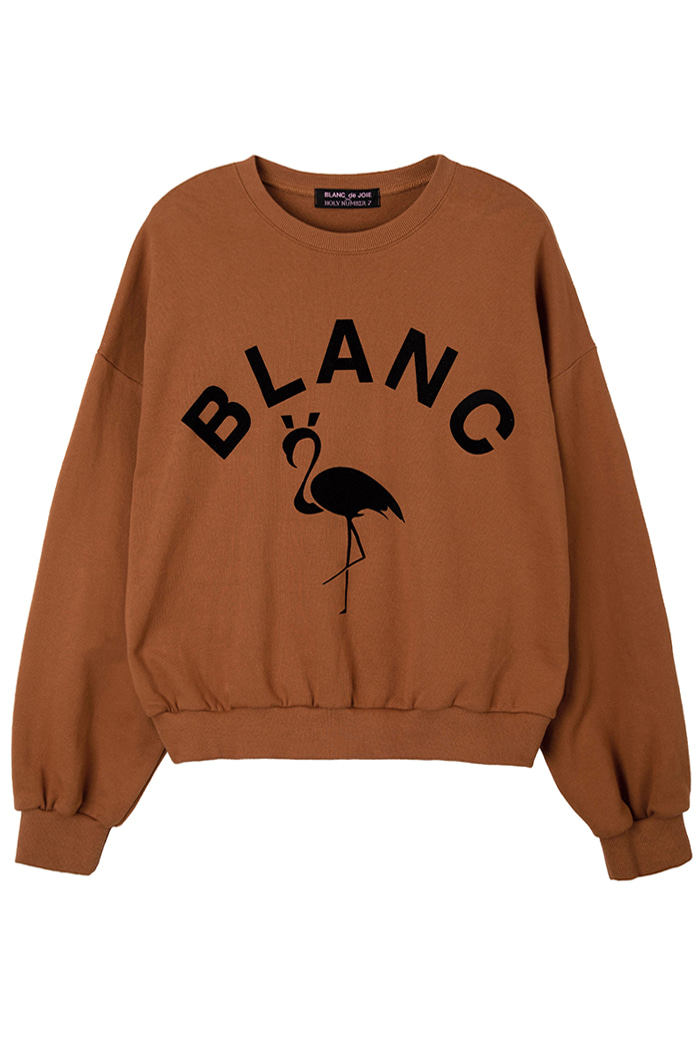 FLAMINGO SWEATSHIRT_brown