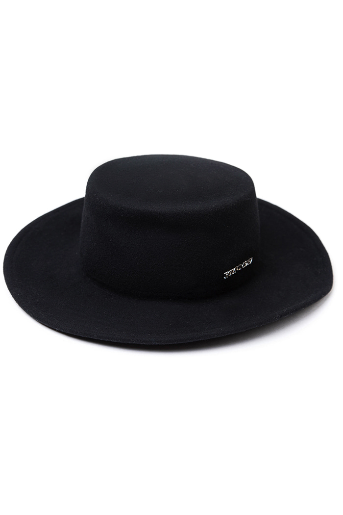 HOLY silver lettering Simple Fedora_BLACK