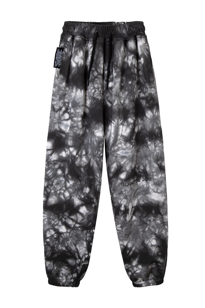 GARMENT-DYED TRAINING PANTS_tie die