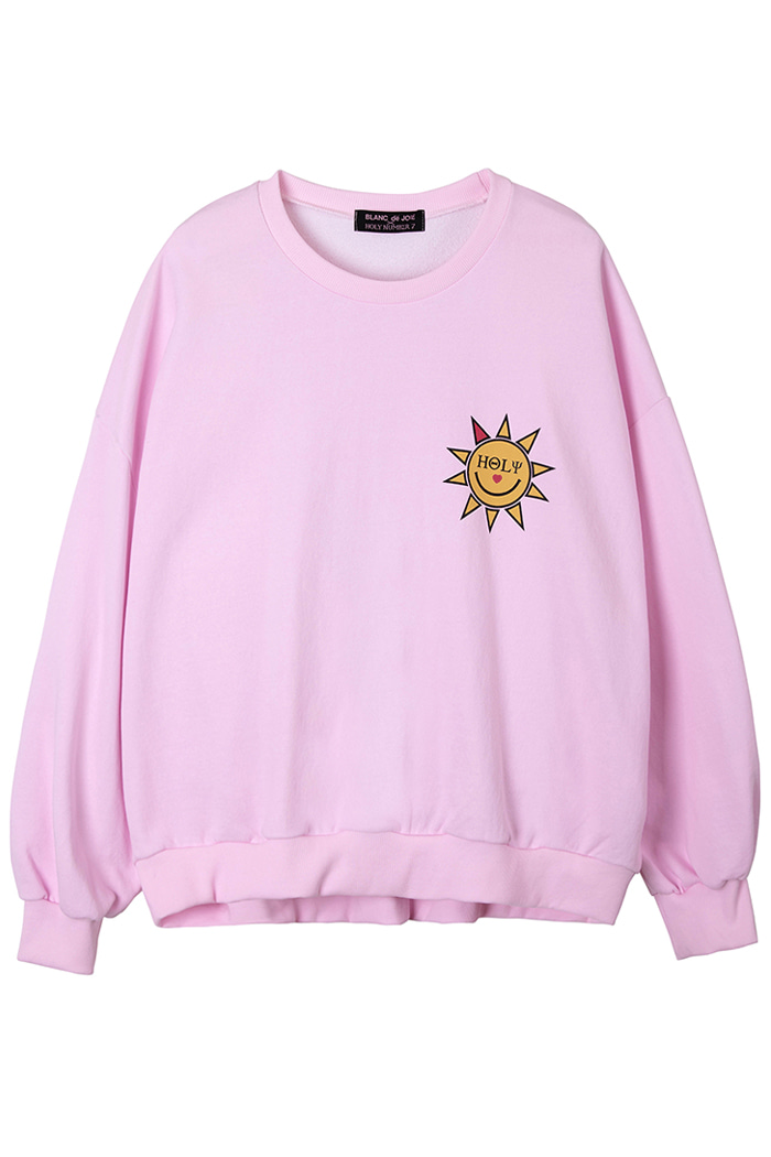 SUNLIGHT MOON WASHING SWEAT SHIRT_pink